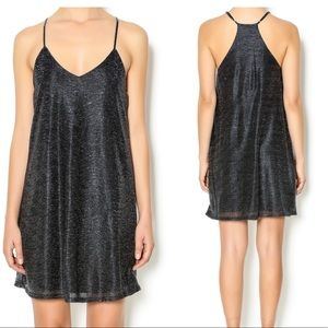 EVERLY • Mesh Foil Cami Dress • S